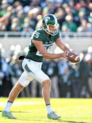 Michigan State junior punter Jake Hartbarger is averaging 44.9 yards per punt this season, with only opponents only attempting to return two of his punts.