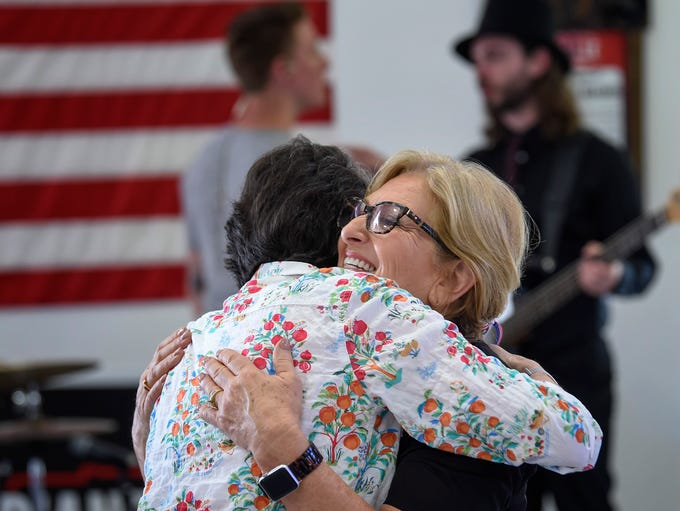 U.S. Rep. Diane Black greets supporters at a gathering