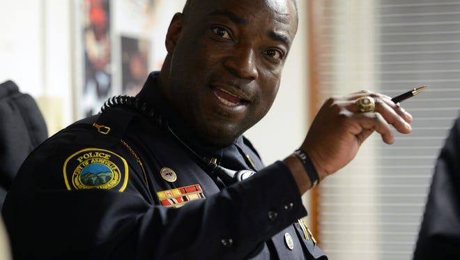 Don Eberhardt is pictured in 2014 when he was a member of the Asheville Police Department.