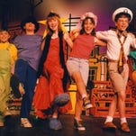 """Really Rosie,"" the Maurice Sendak-Carole King musical, kicks off the 34th season for The Growing Stage – The Children's Theatre of New Jersey in Netcong. The company staged the show in 1991, with Melinda Bass (third from left, wearing a red dress) as Rosie. Now known as Melinda Bass O'Neill, she serves as the musical director for The Growing Stage."
