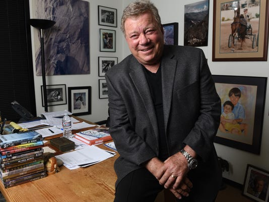 XXX PORTRAIT WILLIAM SHATNER FOR THE 50TH ANNIVERSARY OF THE ORIGINAL STAR AGREE SERIES. 112.JPG USA CA