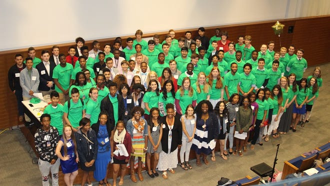 Eighty high school students participated in the Junior Achievement Titan Challenge, a business skills competition, in downtown Greenville on April 22, 2016.