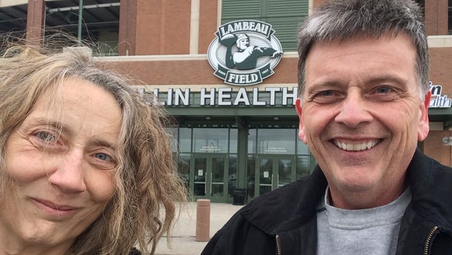 Pamela Bradley and her brother, Kevin Bradley, made it to Lambeau Field on Saturday.