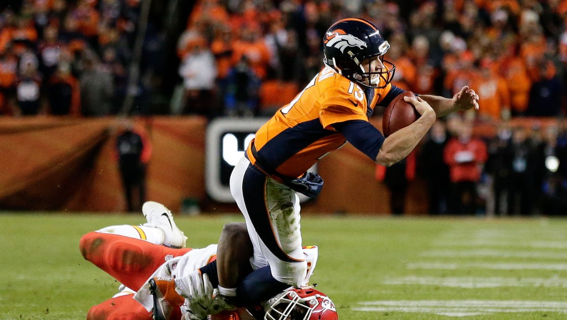 Broncos' Trevor Siemian in protective boot, recovering from foot injury