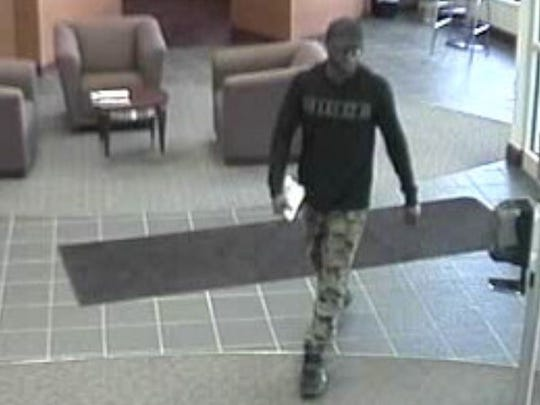 Muncie police have released this image of the bandit