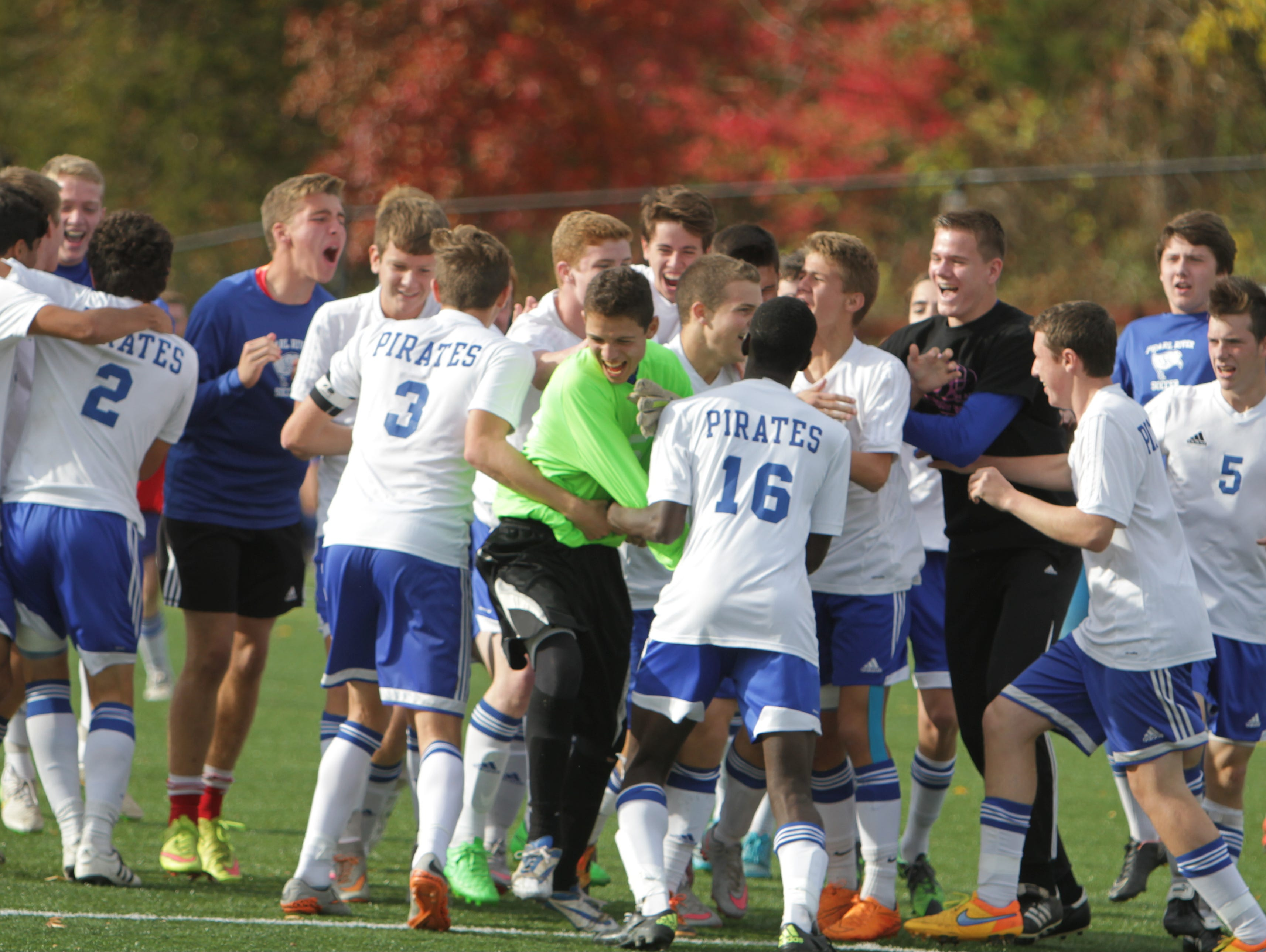 Pearl River defeated Eastchester 2-1 in a Class A semifinal game at Orangetown Soccer Field Complex on Thursday, October 29th, 2015.