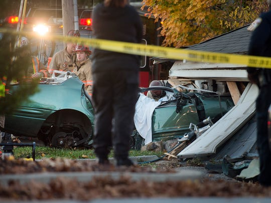 The aftermath of the double-fatal crash is seen in this file photo from Nov. 8, 2015.