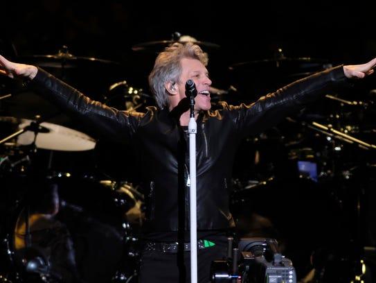 Jon Bon Jovi from the band Bon Jovi performs at Madison