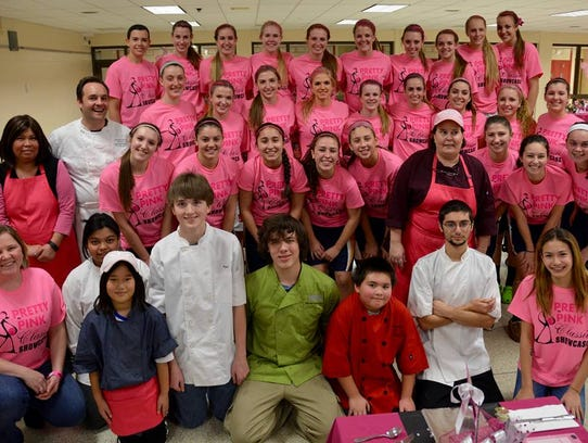 """Chef Florian Wehrli helped organize a """"Pretty in Pink"""""""