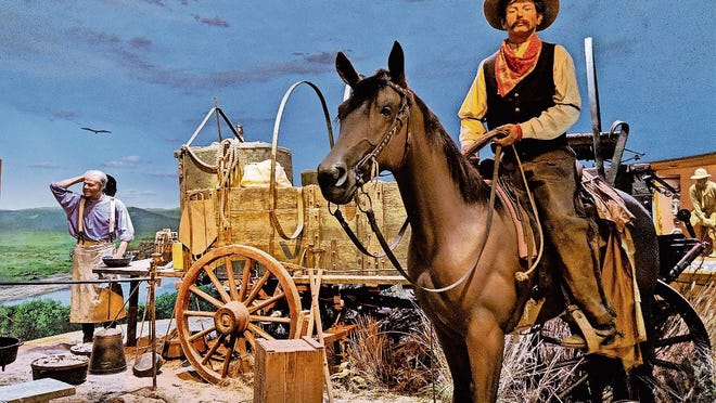 Chuck wagon exhibit at the National Cowboy & Western Heritage Museum in Oklahoma City.