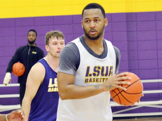 ANI LSUA Men's Basketball LSUA men's basketball player Darryl Milburn (5) practices Thursday, March 12, 2015.-Melinda Martinez/mmartinez@thetowntalk.com