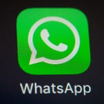 A screen shot of the popular WhatsApp smartphone application, which has said it will eliminate its $1/year user fee
