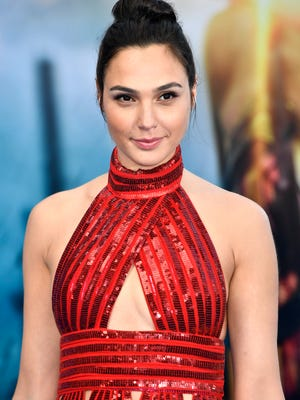"""Gal Gadot arrives at the premiere of """"Wonder Woman"""" on May 25, 2017 in Hollywood."""