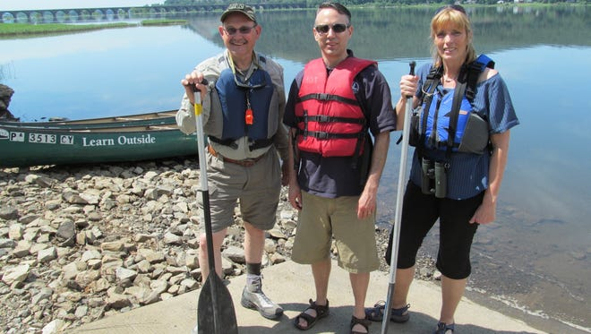 PFBC's John Arway, left, CBF's Harry Campbell, center, and DCNR's Cindy Dunn all have expressed dire concern for the health of the Susquehanna River, which is contaminated by sediment, nutrients and endocrine-disrupting compounds
