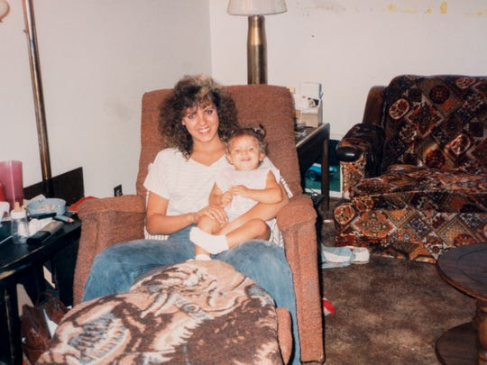 Candace Harp-Harlow and her mother Leighann Quinton.