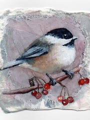 "Jennifer Fais' ""Chickadee Mauve"" is among the ""Little Gems"" featured at a new West End Gallery exhibit."