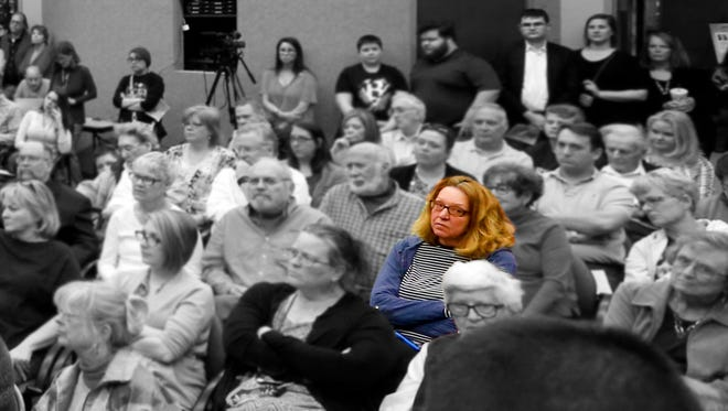 Linda Simkins attended a town hall forum for City Council and mayoral candidates in 2017.