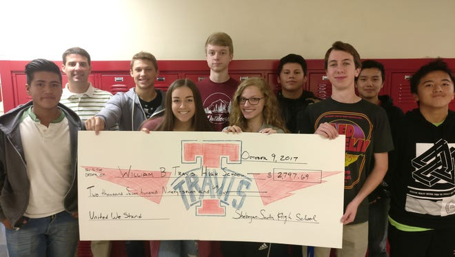 In total, South High School students raised $2,696.72 to go to the families of Travis High School that have their homes and personal items devastated by Hurricane Harvey.