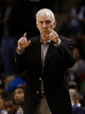 Spurs coach Gregg Popovich continues his annual excellence on the sidelines.