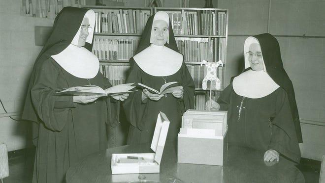 IHM nuns in an undated photo at Gesu Catholic Elementary School in Detroit