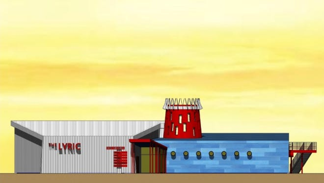 A rendering of the new Lyric Cinema Cafe proposed along North College Avenue.