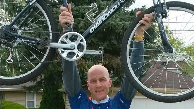 Jeff Freitag aims to ride 500 miles this month for the Great Cycle Challenge.