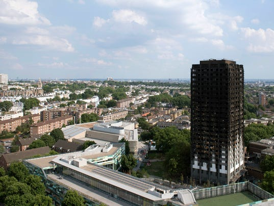 EPA BRITAIN TOWER BLOCK FIRE AFTERMATH DIS FIRE GBR