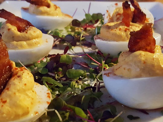 Not Your Mamas Deviled Eggs have a kick of spice.