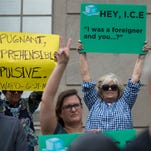 Groups rallied against the criminalization of families at the border