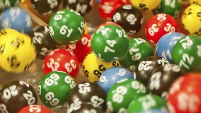 Lottery number balls.