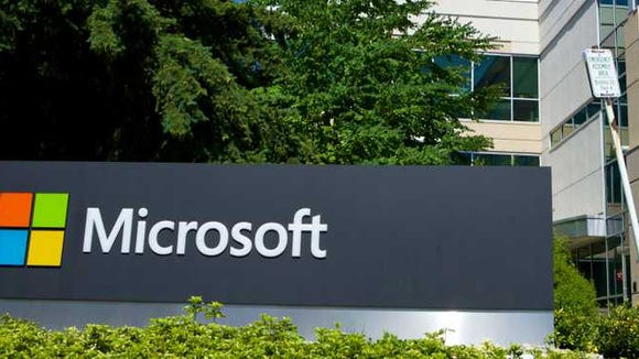 A building on a Microsoft campus