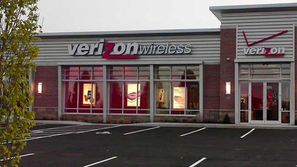 A Verizon Wireless storefront.