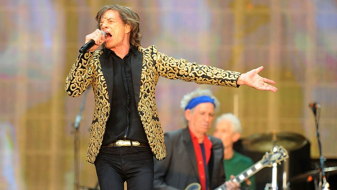 The Rolling Stones perform at Hyde Park in London on Saturday, July 13, 2013.