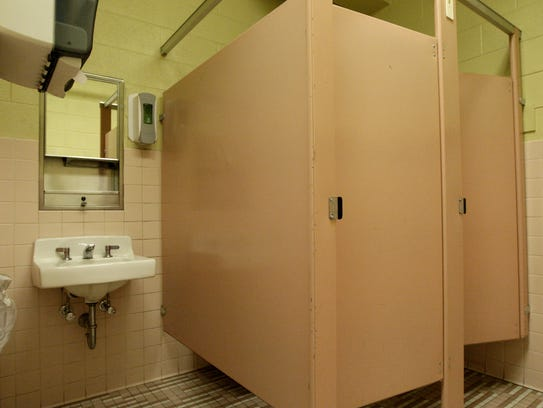 One small women's restroom serves as many as 100 May
