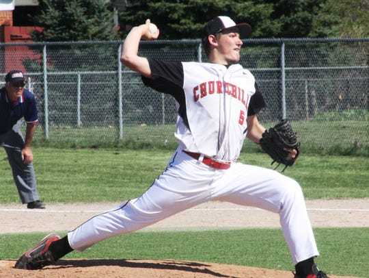 Churchill's Rob Copciac pitched well in the first game