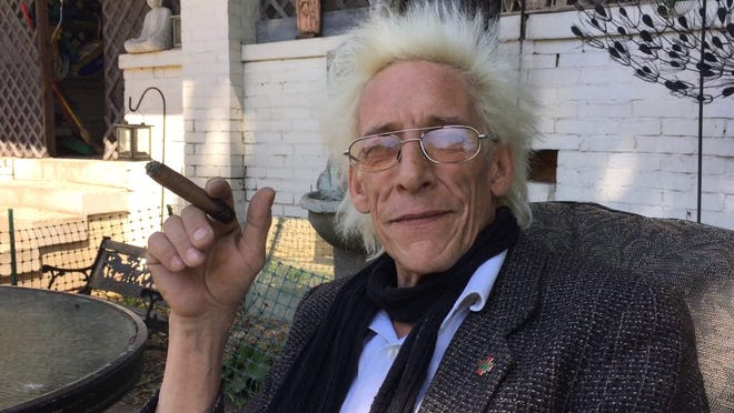 Bill Levin, a cannabis advocate and leader of the First Church of Cannabis, at his Indianapolis home.