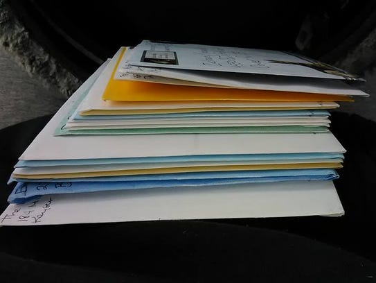 A stack of birthday cards arrives for soon-to-be 13-year-old
