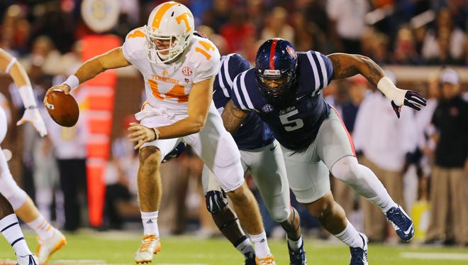 Ole Miss defensive tackle Robert Nkemdiche was named a semifinalist for the Chuck Bednarik Award on Monday.