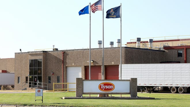 Tyson Foods Inc. in South Hutchinson, Kansas.