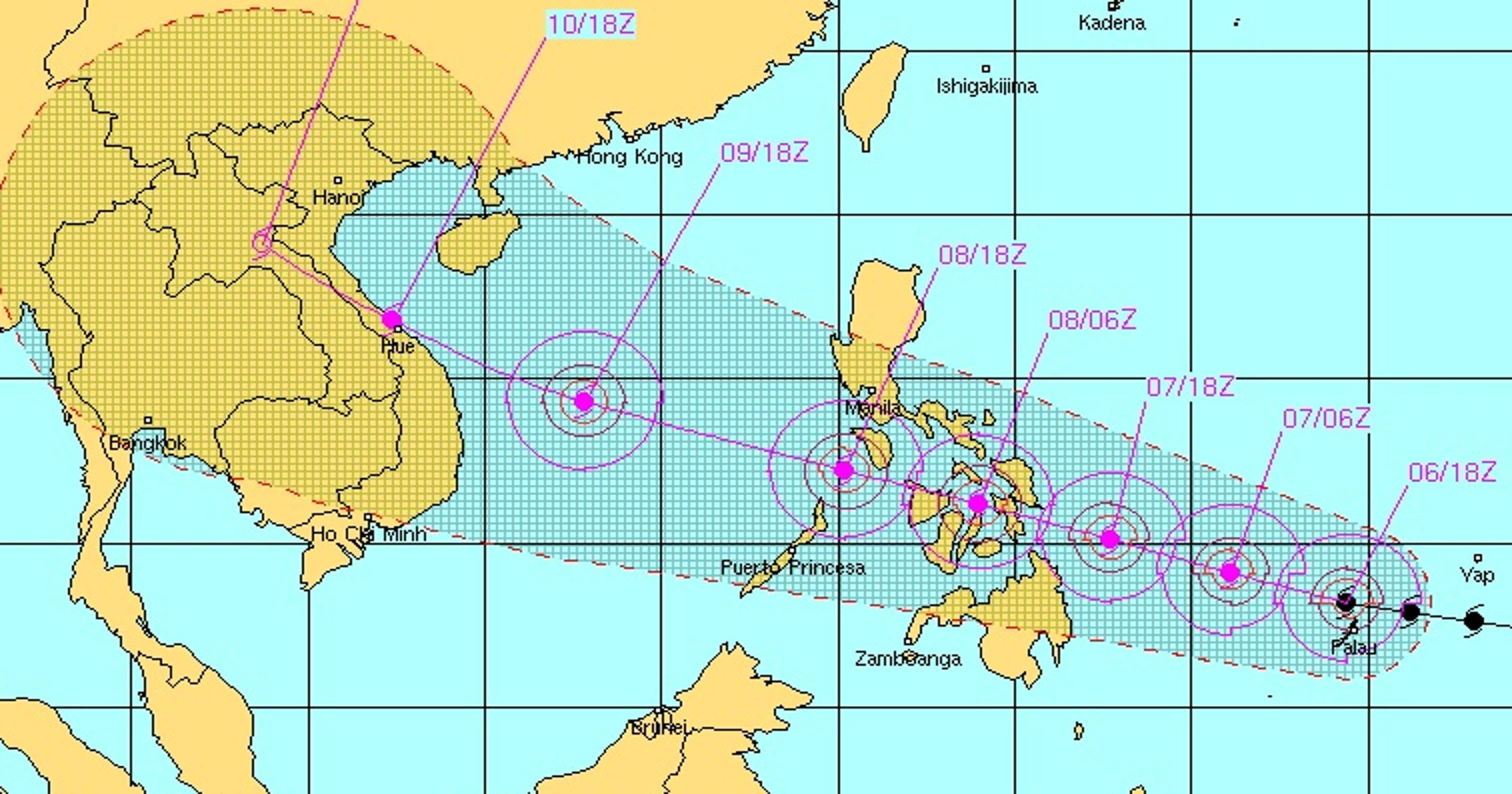 super typhoon forecast to hit the philippines. Black Bedroom Furniture Sets. Home Design Ideas