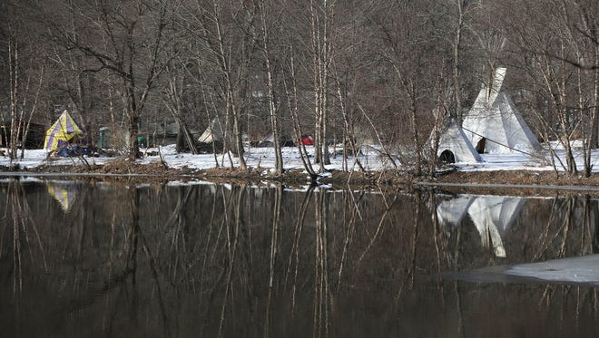 The Ramapough Lenape Nation is accused of erecting tents and teepees without permission.