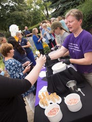 A back-to-school party on the lawn of Mount Mary's campus paired Purple Door Ice Cream with school spirit.