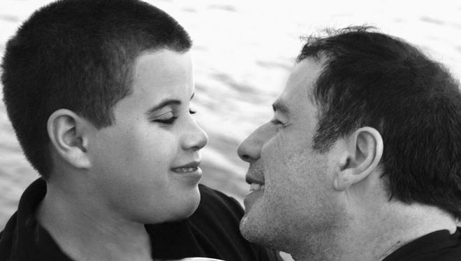 John Travolta is shown here with his son Jett in an undated family photo.