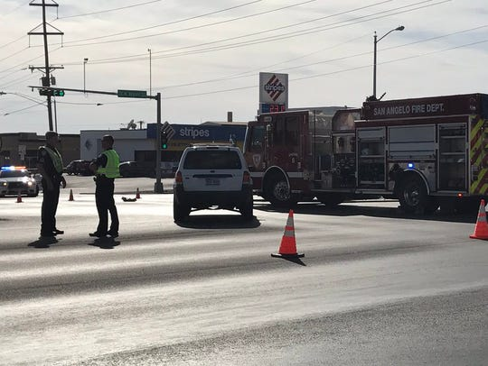 A wreck at the intersection of North Bryant and West