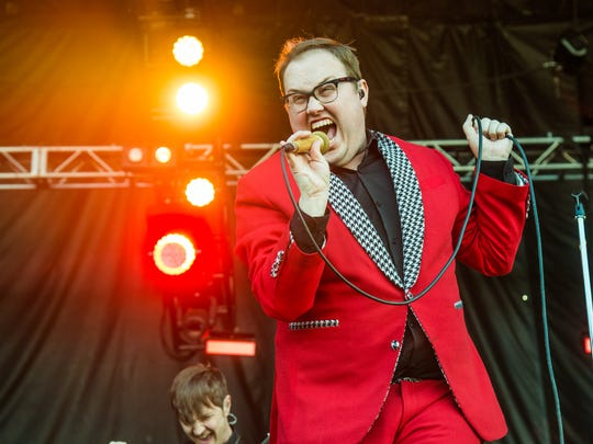 Paul Janeway of St. Paul & The Broken Bones performs at Austin City Limits Music Festival at Zilker Park on Sunday, Oct. 9, 2016, in Austin, Texas.