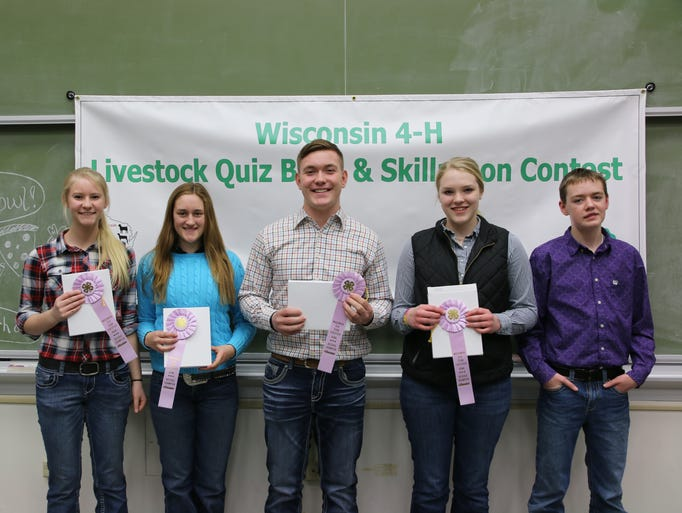 The Iowa County team placed second in the Quiz Bowl