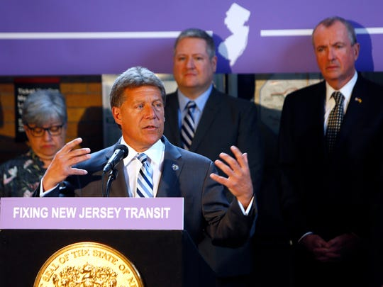 Assemblyman John F. McKeon speaks at the Madison train
