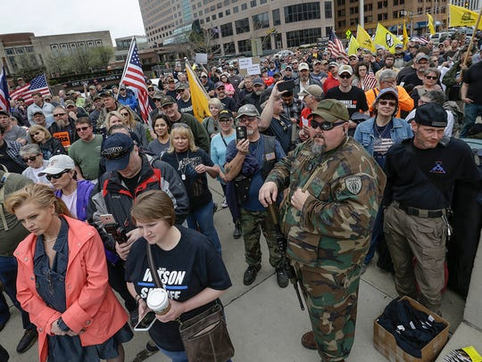 Americans for America Indiana rally, a gun rights advocate