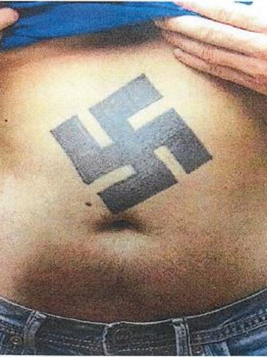 Swastika tattoo