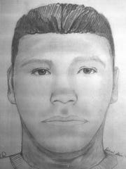 A composite sketch was produced to identify a person of interest in the death of Nathaniel Robert Morgan. Morgan was found dead in the area west of the Auburn Trailer Park at 951 N. Auburn Ave. on Oct. 21, 2009.